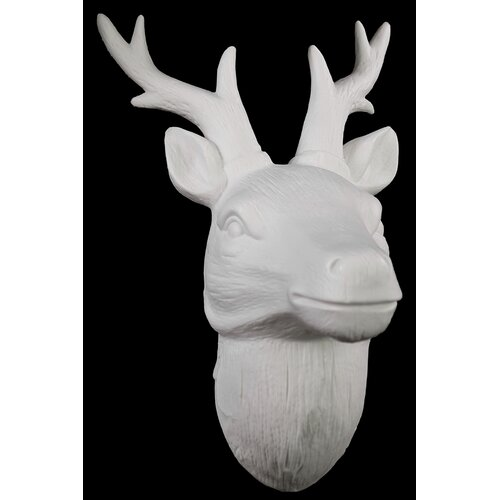 Porcelain Deer Head Wall Decor