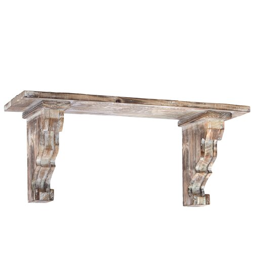 Urban Trends Wooden Wall Shelf With Corbels Distressed