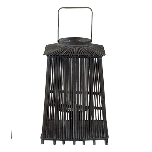 Urban Trends Wooden Lantern