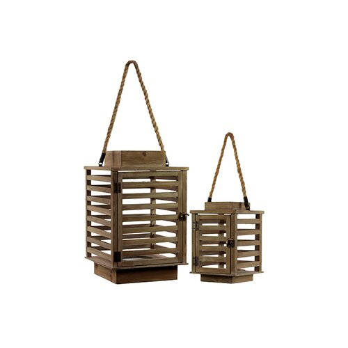 Urban Trends Wooden Lanterns Set of Two