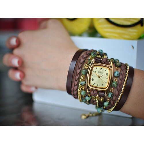 Winky Designs Sweet Dreams Women's Mint Chocolate Chip Wrap Watch