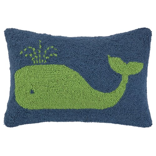 Peking Handicraft Nautical Hook Whale Pillow