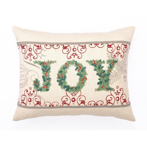 Peking Handicraft Joy Cotton Pillow with Embroidery