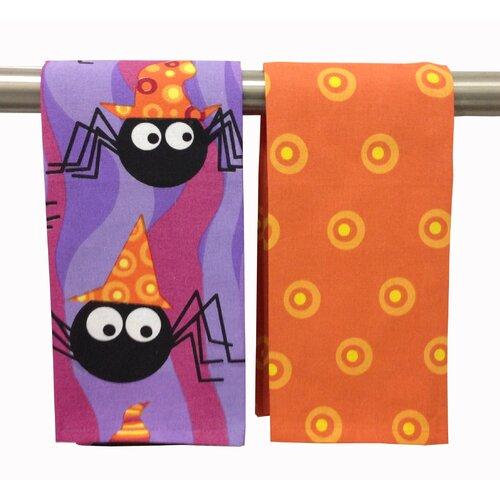 Peking Handicraft Funky Spiders Kitchen Towel