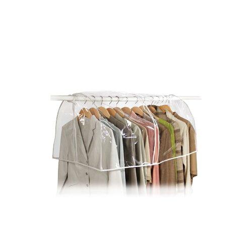Richards Homewares Clear Vinyl Storage Closet Garment Cover