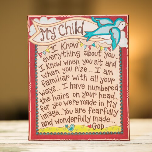 My Child Table Top Textual Art on Canvas