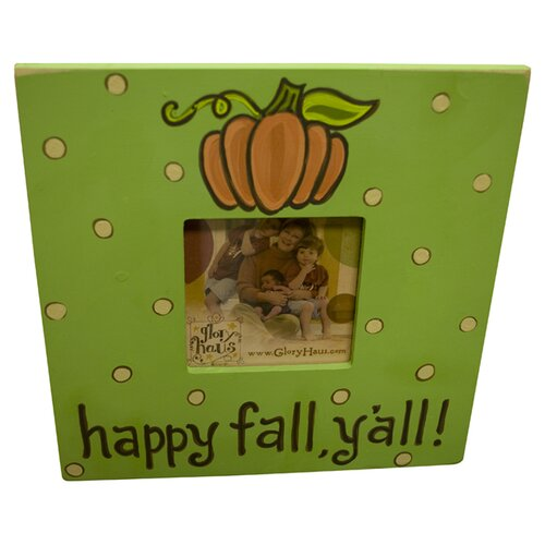 "Glory Haus ""Happy Fall Y'all"" Picture Frame"