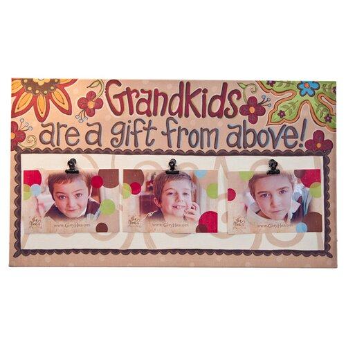 Grandkids Clip Memorabilia on Canvas