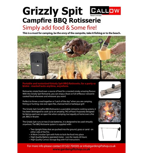Callow retail grizzly spit cfire rotisserie
