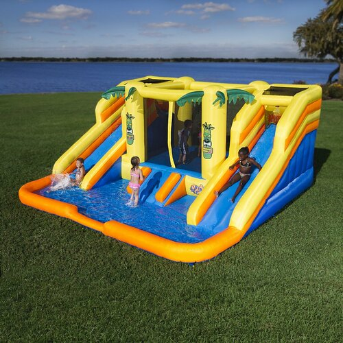 Raging Rapids Xtreme Inflatable Water Slide: Blast Zone Rainforest Rapids Water Bounce House & Reviews