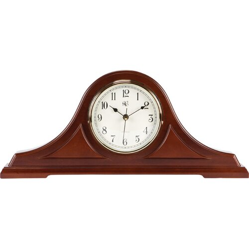 River City Clocks Mantel Radio Controlled Clock in Cherry