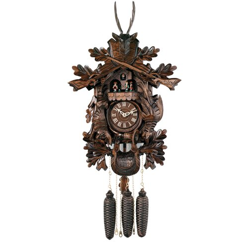 River City Clocks Eight Day Musical Hunter's Cuckoo Wall Clock