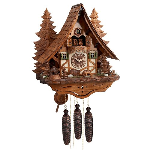 Eight Day Musical Chalet Cuckoo Wall Clock