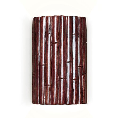 A19 Nature Bamboo 1 Light Wall Sconce