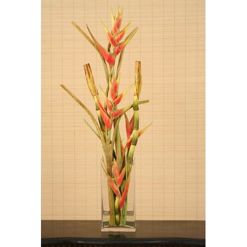 Distinctive Designs Faux Heliconia in Vase