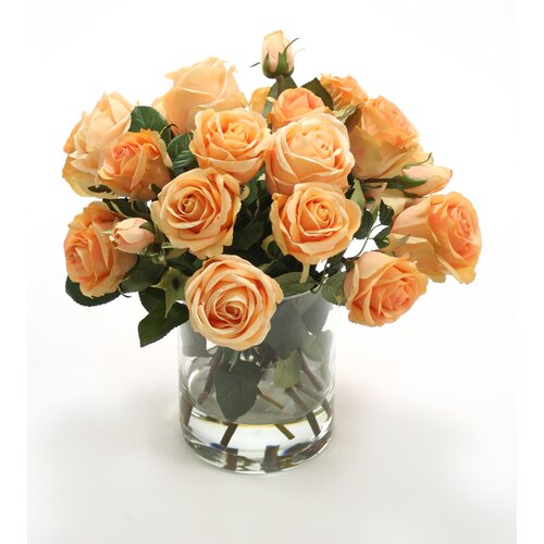 Distinctive Designs Silk Roses in Cylinder