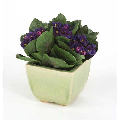 Distinctive Designs Silk Violets Floor Plant in Pot
