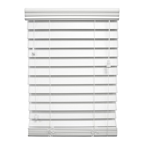 "Wildon Home ® 2.5"" Faux Premium Wood Blind - 64"" H"