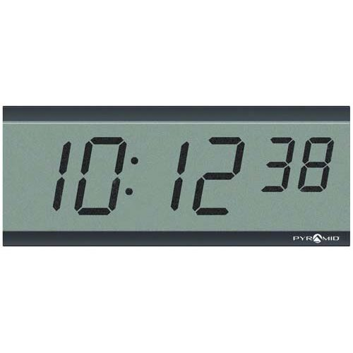 "Pyramid 3"" 6 Digit LCD Wireless Battery Powered Clock"