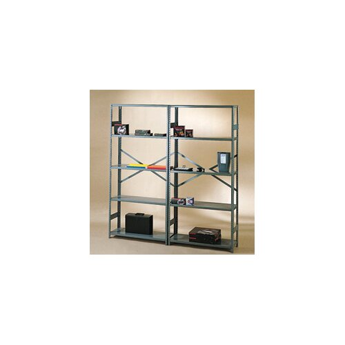 "Tennsco Corp. Commercial 75"" H 5 Shelf Shelving Unit Starter"