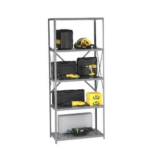 "Tennsco Corp. Q Line Open 87"" H 7 Shelf Shelving Unit Starter"