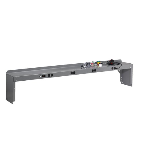 """Tennsco Corp. Electronic Riser With End Supports For Electronic Workbench (12"""" H x 72"""" W x 10.5"""" D)"""