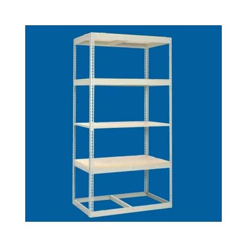 "Tennsco Corp. Z Line Low Profile 84"" H 4 Shelf Shelving Unit Starter"