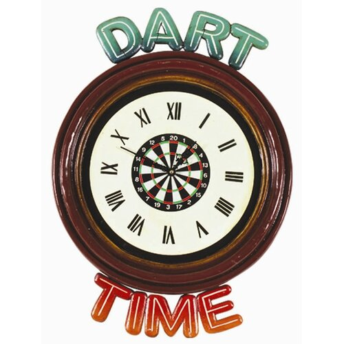 RAM Gameroom Products Dart Time Wall Clock