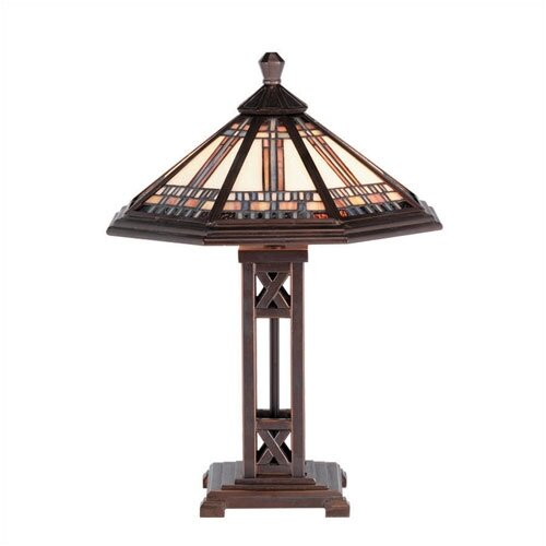 """RAM Gameroom Products Winslow 17"""" H Table Lamp with Empire Shade"""