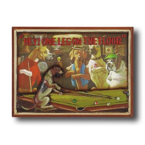 Game Room Hey! One Leg On the Floor Framed Vintage Advertisement