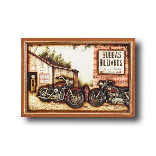 Game Room Bubba's Billiards Framed Vintage Advertisement