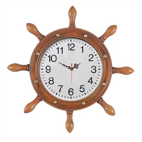 RAM Gameroom Products Outdoor Captains Wheel Wall Clock