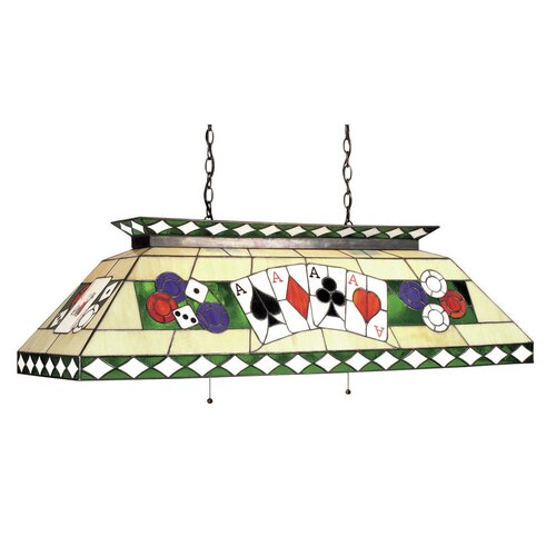 Tiffany 4 Light Poker Pool Table Light
