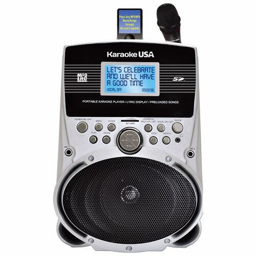 Portable Karaoke MP3 Lyric Player with Lyric Screen, SD Slot and 100 Songs