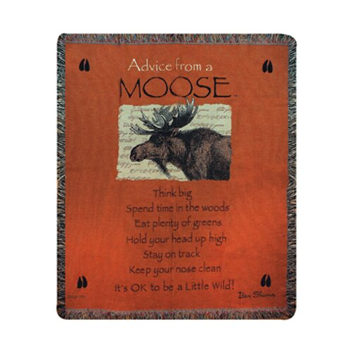 Manual Woodworkers & Weavers Advice From a Moose Tapestry Cotton Throw