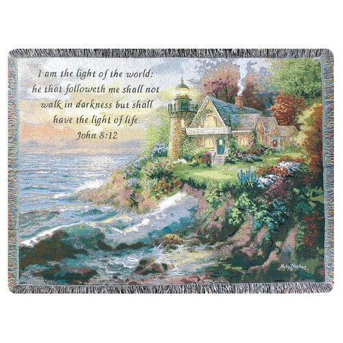 Manual Woodworkers & Weavers Guardian of the Sea Tapestry Cotton Throw