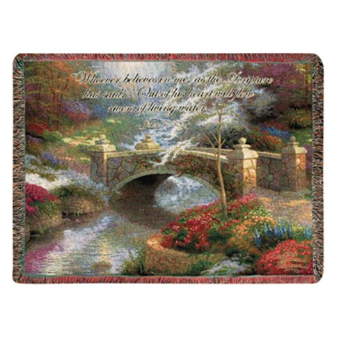 Manual Woodworkers & Weavers Bridge of Hope Tapestry Cotton Throw