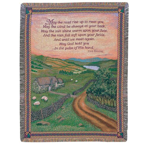 Manual Woodworkers & Weavers Blessing of Ireland Tapestry Cotton Throw