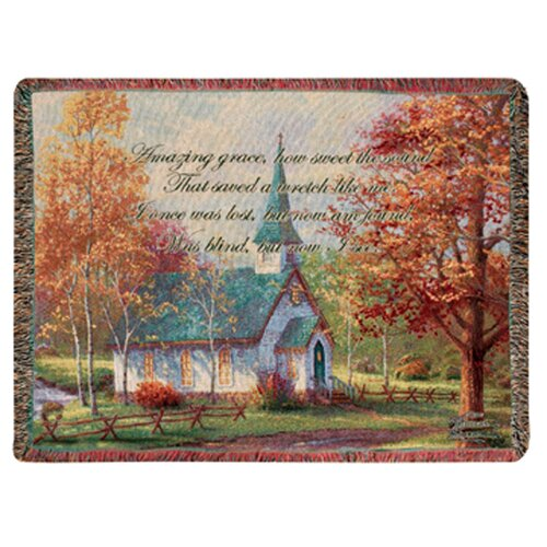 Manual Woodworkers & Weavers Chapel in the Woods Tapestry Cotton Throw