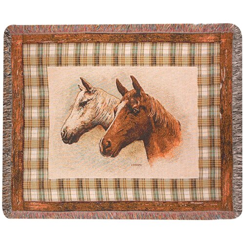 Manual Woodworkers & Weavers Field of Dreams Tapestry Cotton Throw