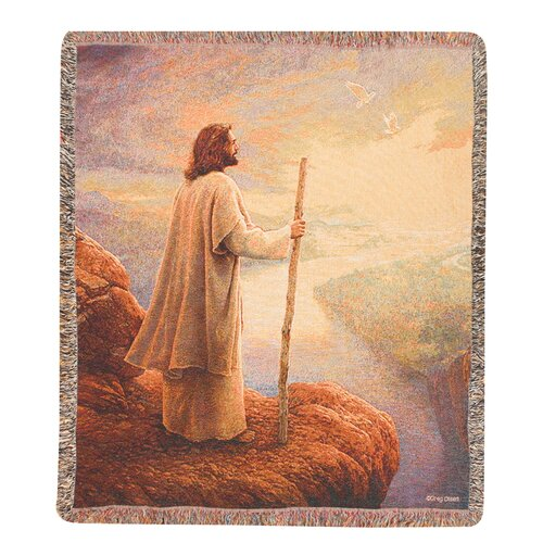 Manual Woodworkers & Weavers Hope on the Horizon Tapestry Cotton Throw
