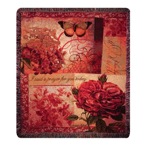 Manual Woodworkers & Weavers Spring Blooms Verse Tapestry Cotton Throw