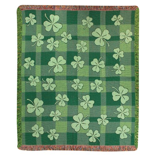 Manual Woodworkers & Weavers Shamrock Tapestry Cotton Throw
