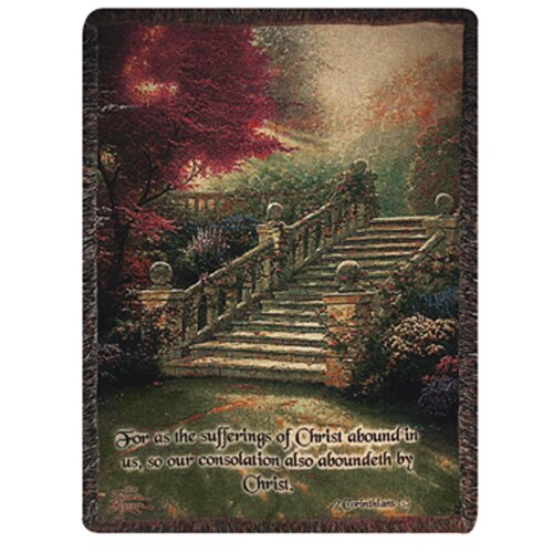 Manual Woodworkers & Weavers Stairway to Paradise Verse Tapestry Cotton Throw
