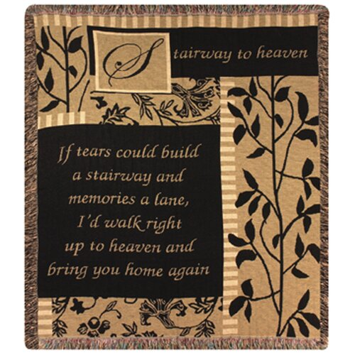 Manual Woodworkers & Weavers Stairway to Heaven Tapestry Cotton Throw