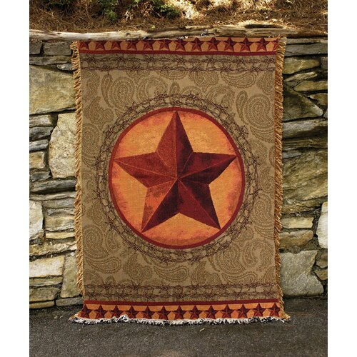 Manual Woodworkers & Weavers Western Star Tapestry Cotton Throw