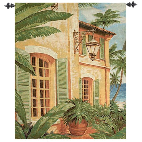 Manual Woodworkers & Weavers Tropical Villa Tapestry