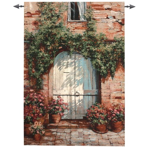 Manual Woodworkers & Weavers Wooden Doorway Tapestry