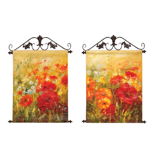 Manual Woodworkers & Weavers Field of Floral Original Painting on Canvas