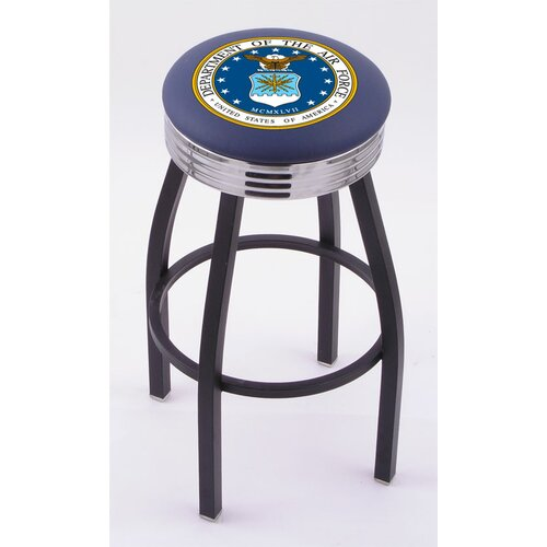 "Holland Bar Stool US Military 30"" Swivel Bar Stool with Cushion"